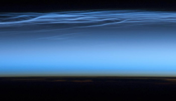 ISS Photo of Noctilucent Clouds 2012